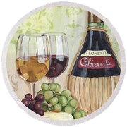 Chianti And Friends Round Beach Towel