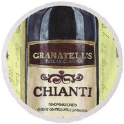 Chianti And Friends Panel 1 Round Beach Towel