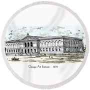 Chicago Art Institute -  1879 Round Beach Towel