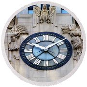 Chicago Board Of Trade Building Clock Round Beach Towel