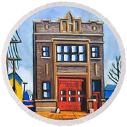 Chicago Fire Station Round Beach Towel