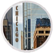 Chicago  Round Beach Towel by Lydia Holly