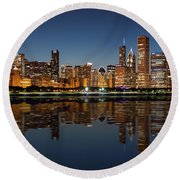 Chicago Reflected Round Beach Towel