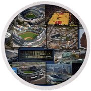 Chicago Sports Collage Round Beach Towel