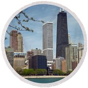 Chicago Spring Round Beach Towel