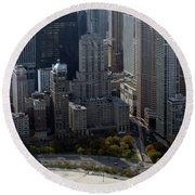 Chicago The Drake Round Beach Towel by Thomas Woolworth