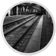 Chicago Union Station Round Beach Towel