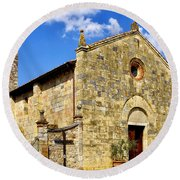 Round Beach Towel featuring the photograph Chiesa Di Santa Maria Assunta by Fabrizio Troiani