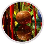 Chihuly-10 Round Beach Towel by Dean Ferreira