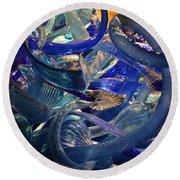 Chihuly-2 Round Beach Towel by Dean Ferreira
