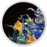 Chihuly-4 Round Beach Towel by Dean Ferreira