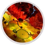 Chihuly-5 Round Beach Towel by Dean Ferreira