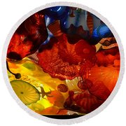 Chihuly-6 Round Beach Towel by Dean Ferreira