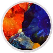 Chihuly-7 Round Beach Towel by Dean Ferreira