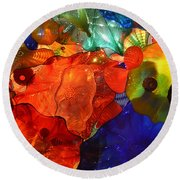 Chihuly-8 Round Beach Towel by Dean Ferreira