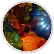 Chihuly-9 Round Beach Towel by Dean Ferreira