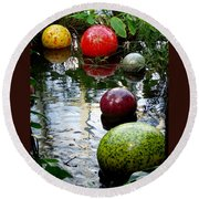 Chihuly Globes Round Beach Towel