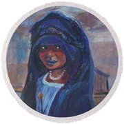 Child Bride Of The Sahara Round Beach Towel