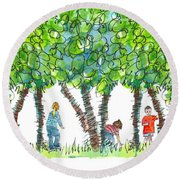 Child Play Round Beach Towel