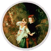 Children In The Wood Round Beach Towel