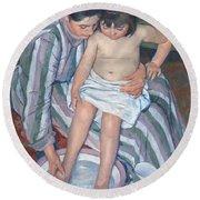 Child's Bath 1893 Round Beach Towel