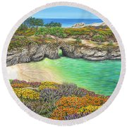 China Cove Paradise Round Beach Towel