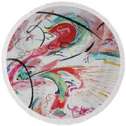 Chinatown Round Beach Towel by Asha Carolyn Young