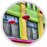 Chinatown Colors Round Beach Towel