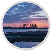 Chincoteague Wildlife Refuge Dawn Round Beach Towel