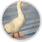 Chinese Goose Winter Round Beach Towel