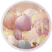 Chinese Lanterns Round Beach Towel