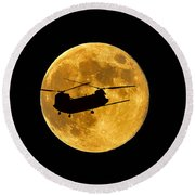 Chinook Moon Color Round Beach Towel