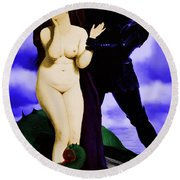 Chivalry Round Beach Towel