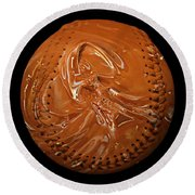 Chocolate Dipped Baseball Square Round Beach Towel by Andee Design