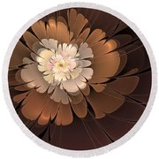 Chocolate Lilly Round Beach Towel