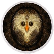 Chocolate Nested Easter Owl Round Beach Towel