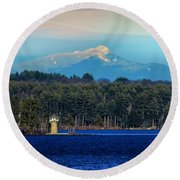 Chocorua And Spindle Point Round Beach Towel