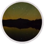 Chocorua Stars Round Beach Towel
