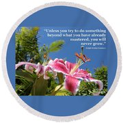 Choose Your Quote Choose Your Picture 18 Round Beach Towel