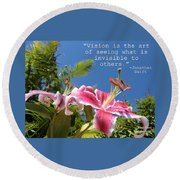 Choose Your Quote Choose Your Picture 19 Round Beach Towel