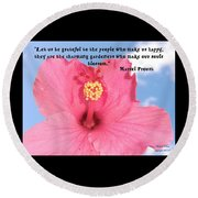 Choose Your Quote Choose Your Picture 4 Round Beach Towel
