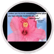 Choose Your Quote Choose Your Picture 5 Round Beach Towel