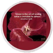 Choose Your Quote Choose Your Picture 6 Round Beach Towel
