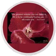 Choose Your Quote Choose Your Picture 8 Round Beach Towel