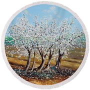 Round Beach Towel featuring the painting Chosen by Meaghan Troup