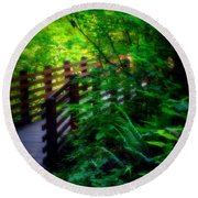 Round Beach Towel featuring the photograph Chosen Path by Amanda Eberly-Kudamik