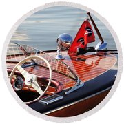 Chris Craft Deluxe Runabout Round Beach Towel