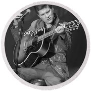 Chris Isaak Round Beach Towel