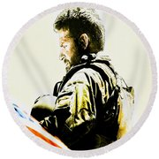 Chris Kyle Round Beach Towel by Brian Reaves