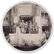 Christ Presented To The People, 1655 Round Beach Towel